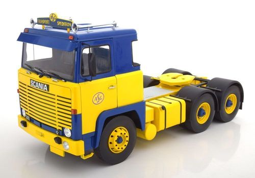 "Road Kings Scania LBT 141 ""ASG"" 1976 blue/yellow Neu & OVP 1:18"