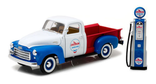 GMC 150 Pickup 1950,Chevron  mit Zapfsäule 1:18 Greenlight