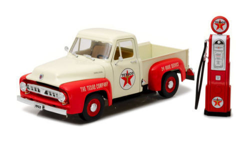Ford F 100 Pickup 1953, Texaco mit Zapfsäule 1:18 Greenlight