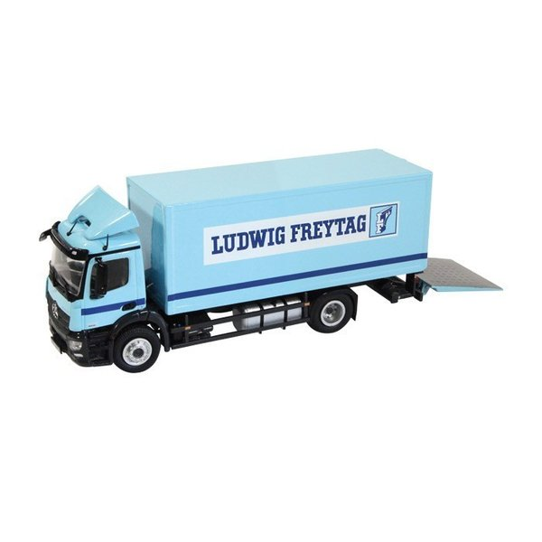 "Mercedes Benz Antos  4x2 truck with lifting platform ""Ludwig Freytag""  1:50"